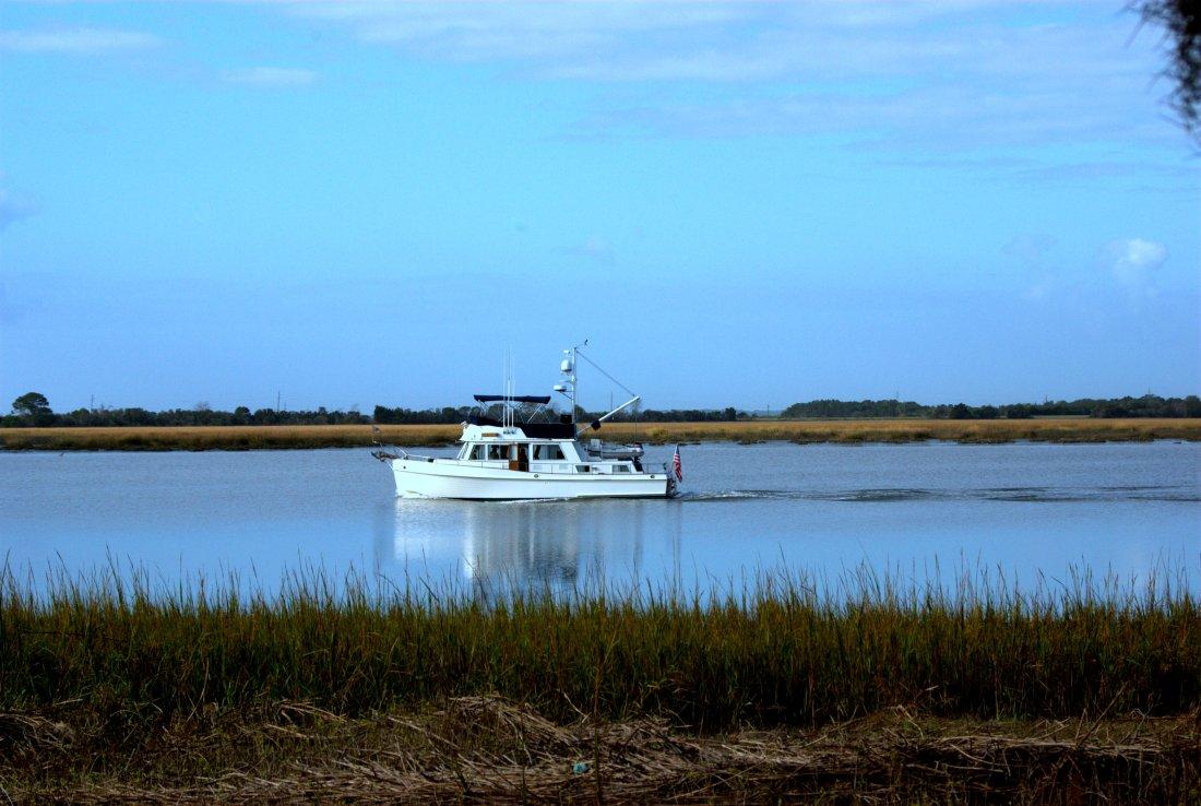 Jekyll Boat in Marsh